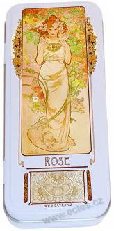 A. Mucha: The Flowers - Rose WR053